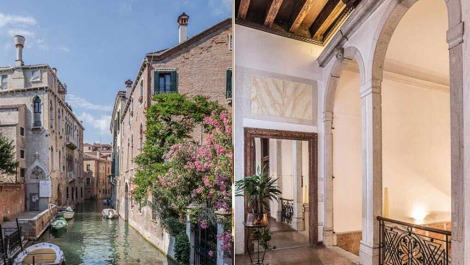 Venice Italy canal real estate