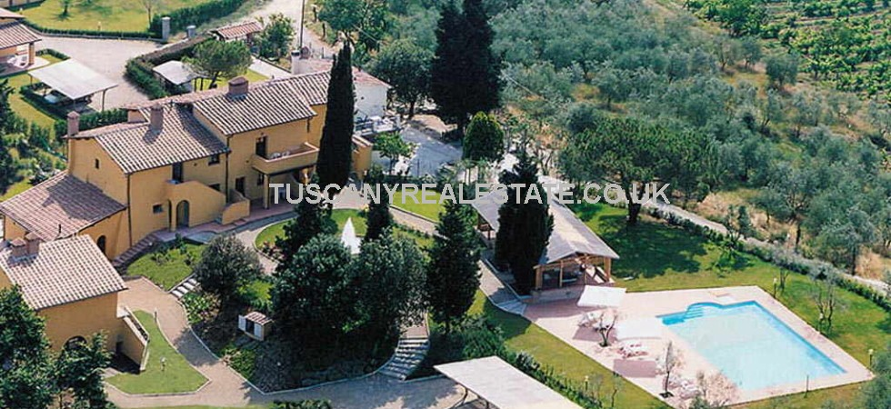 If you have ever dreamed of running your own Agriturismo and producing (and drinking) your own wina and olive oil this Tuscan property near to Florence could be ideal.