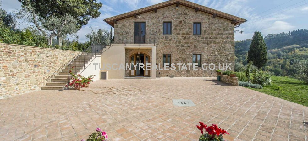 Dating back to the 17th Century is this luxury property for sale comprising a restored stone farmhouse, garden, olive grove. Permission has been granted for a swimming pool.