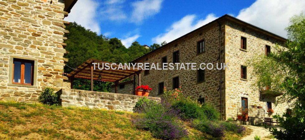 This Caprese Michelangelo agriturismo complex for sale offers not only a home and income but potential for expanding the guest accommodation