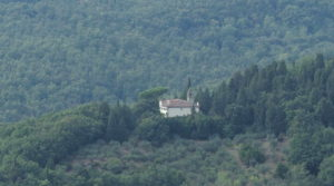 Tuscan Villa with church and land