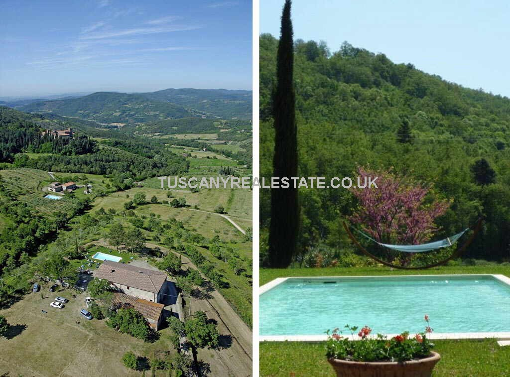 Farmhouse With Pool, Annex, Land Subbiano Arezzo Tuscany