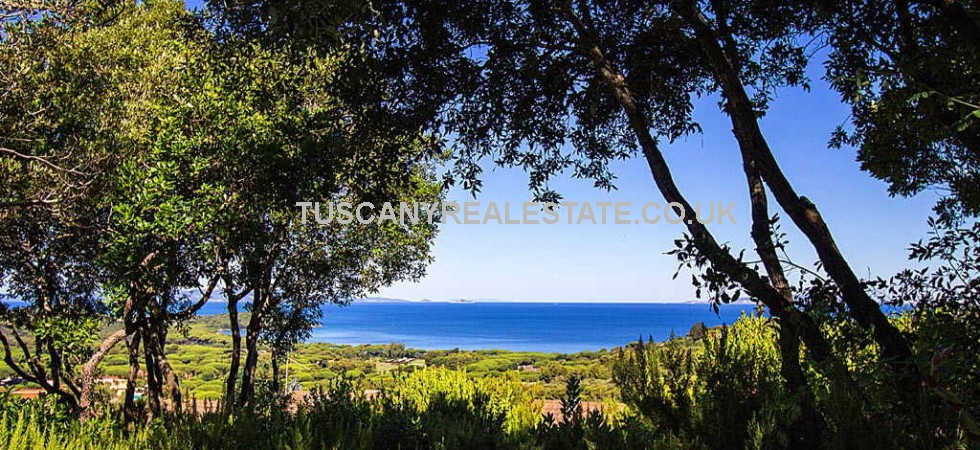 For sale, new build Tuscan sea view villa with sea and mountain views. Punta Ala is well known as a chic seaside resort in Tuscany with pristine sea and beach, golf and yacht clubs, shops, restaurants and night clubs.