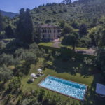 Villa with pool, outbuildings, park, vineyards, olive groves and woodland.