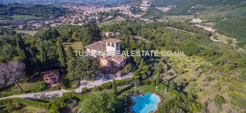 An extremely impressive beautifully presented 13 bedroom country house nestled in approximately 11 hectares (27.1 acres) of stunning gardens and land with magnificent views over Spoleto.