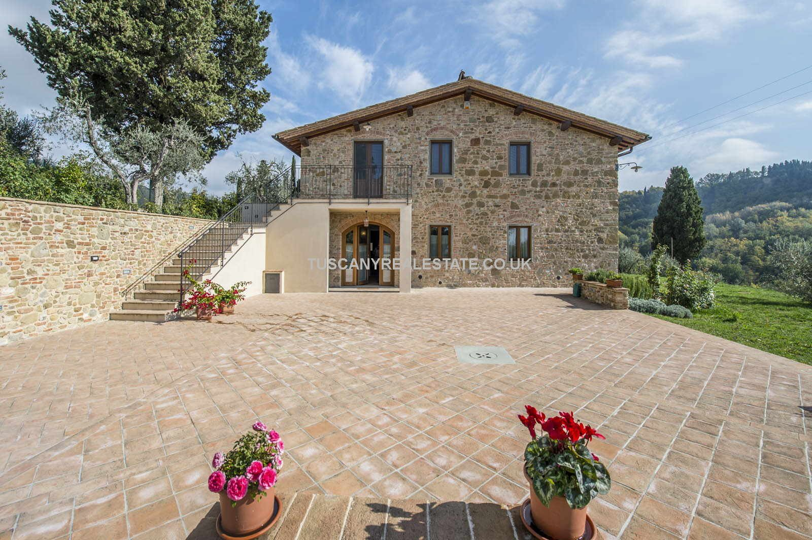 Restored stone farmhouse, garden, olive grove