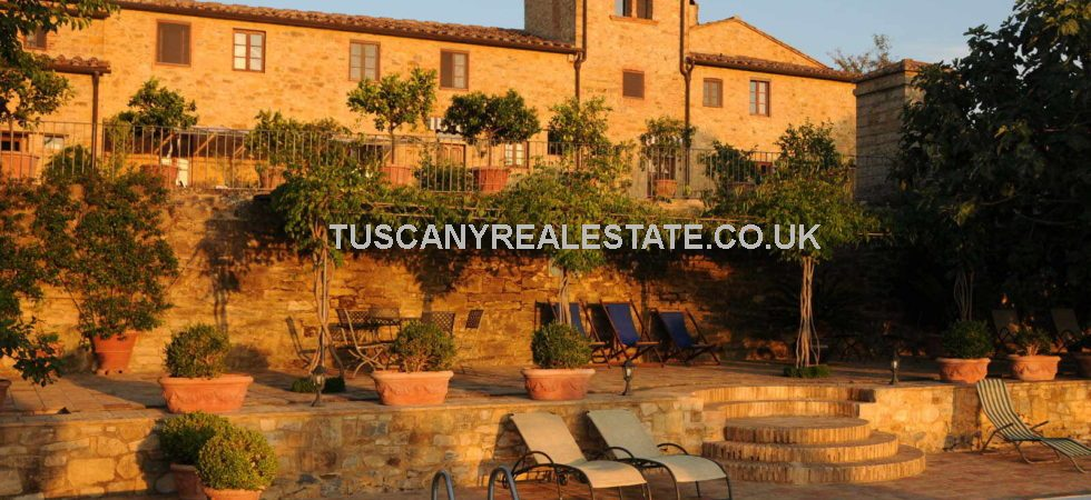 This expansive property oozes quality. Comprising a wine estate with manor house and 78 ha of land, vineyards and olives, for sale in the prestigious Chianti Classico wine region of Tuscany,