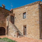Restored Siena farmhouse property with pool and 6 hectares of land with small olive grove. Near to Trequanda in the Sienese hills. Nice Tuscan property.
