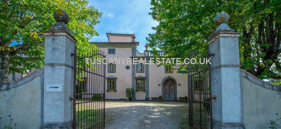 Large historical Florentine villa for sale. Fully restored prestige 16th century Italy property which with 25 bedrooms overall would be ideal for luxury vacation rental use.