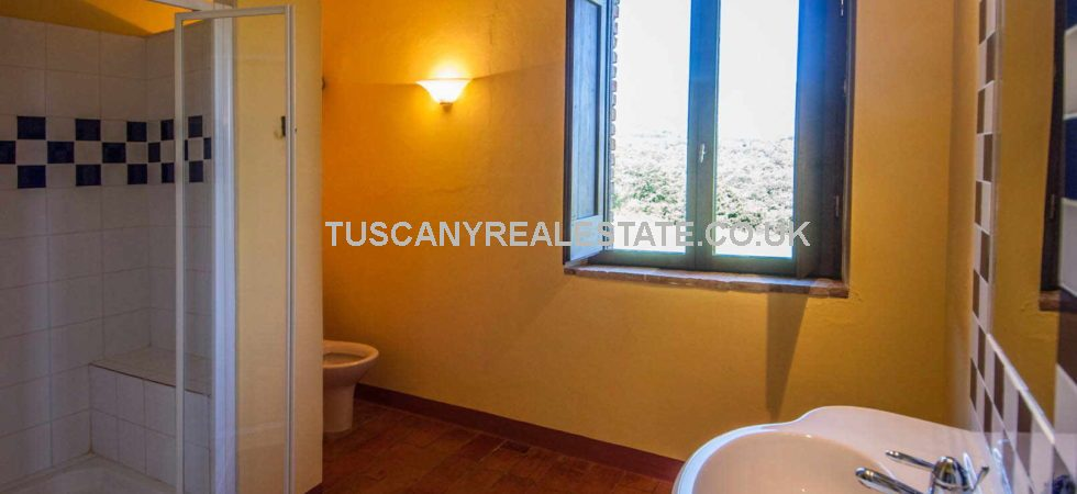 Farmhouses for sale in Tuscany Italy. Near to Caprese Michelangelo and with views over Lake Montedoglio, 2 restored stone farmhouses currently used for holiday rentals. Ideal home and income opportunity,