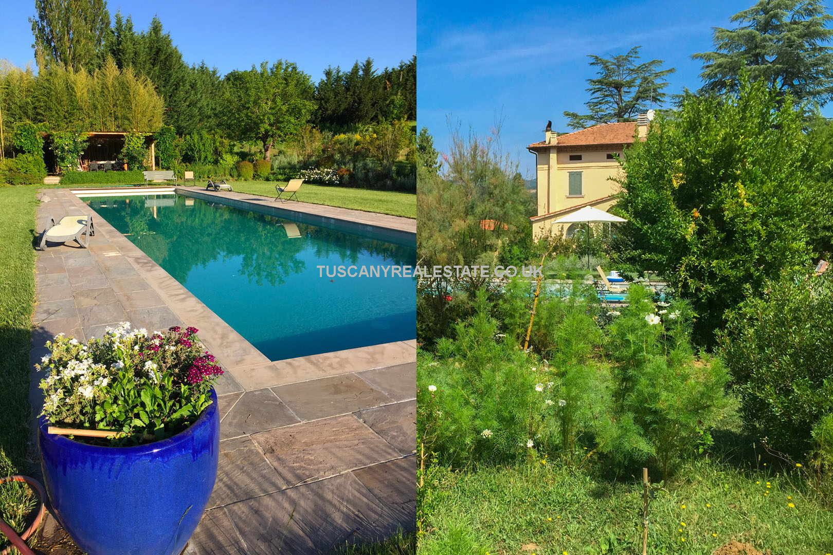 Lovely large villa, in the Liberty style, with pool and gardens located near to Umbertide in Umbria