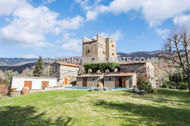 Medieval tower for sale In Tuscany Italy