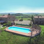 View of Tuscan farmhouse hotel